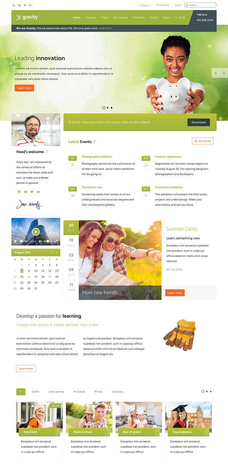 Gravity Joomla Template